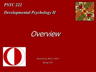 PSYC 222 Developmental Psychology II