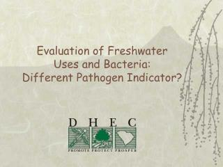 Evaluation of Freshwater  Uses and Bacteria: Different Pathogen Indicator?