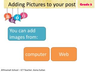 Adding Pictures to your post