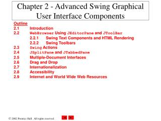 Chapter 2 - Advanced Swing Graphical User Interface Components