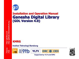 Installation and Operation Manual Ganesha Digital Library (GDL Version 4.0)