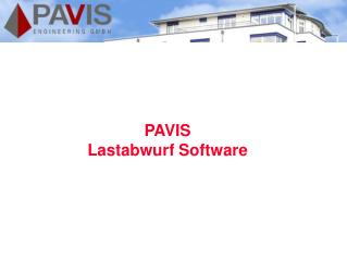 PAVIS Lastabwurf Software