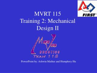 MVRT 115 Training 2: Mechanical Design II