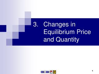 3.	Changes in Equilibrium Price and Quantity