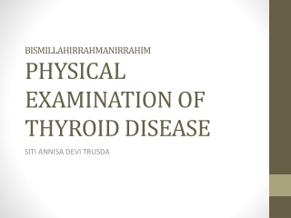 LYMPH NODES EXAMINATION
