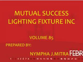 MUTUAL SUCCESS LIGHTING FIXTURE INC