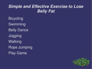 Simple and effective exercise to lose belly fat