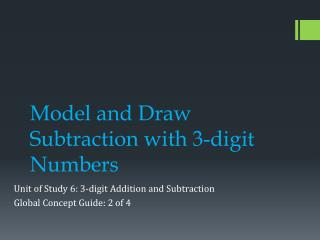 Model and Draw Subtraction with 3-digit Numbers