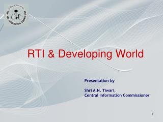 RTI & Developing World