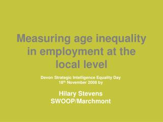 Measuring age inequality in employment at the local level