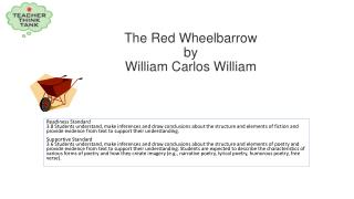 The Red  Wheelbarrow by William Carlos William