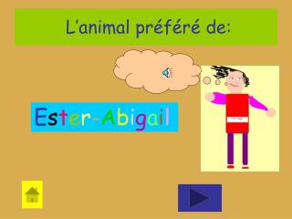 L'animal préféré de: