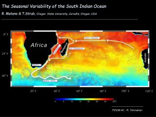 The Seasonal Variability of the South Indian Ocean