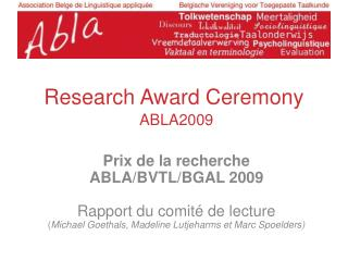 Research Award Ceremony