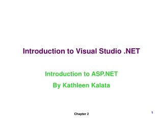 Introduction to Visual Studio .NET