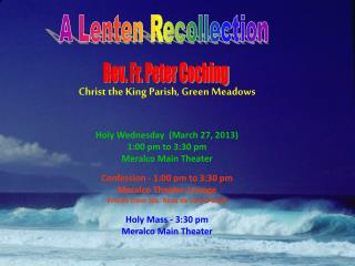 A Lenten Recollection