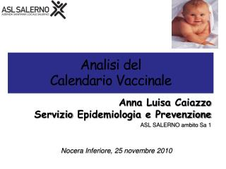 Analisi  del  Calendario Vaccinale