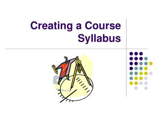 Creating a Course Syllabus