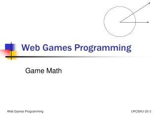 Web Games Programming