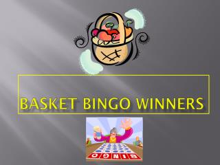 Basket Bingo Winners