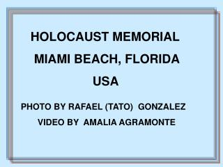 HOLOCAUST MEMORIAL       MIAMI BEACH, FLORIDA                        USA