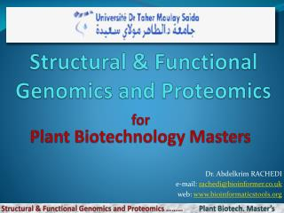 Structural & Functional Genomics and Proteomics
