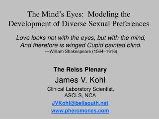 The Mind's Eyes:  Modeling the Development of Diverse Sexual Preferences