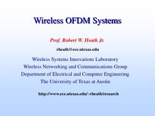 Wireless OFDM Systems