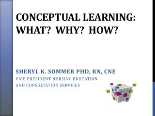 Conceptual Learning: What?  Why?  How?