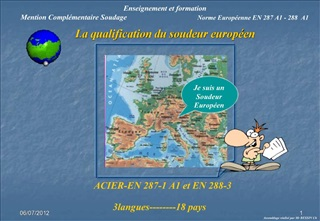 La qualification du soudeur europ en