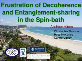 Frustration of Decoherence and Entanglement-sharing in the Spin-bath