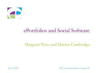 ePortfolios and Social Software