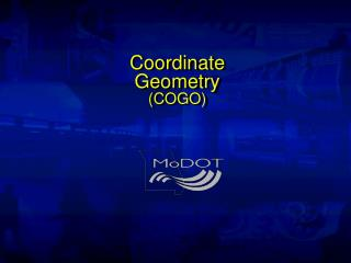 Coordinate  Geometry (COGO)