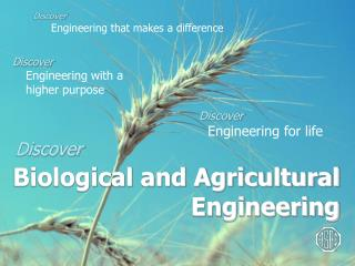 Discover Engineering that makes a difference