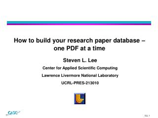 How to build your research paper database – one PDF at a time