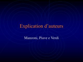 Explication d'auteurs