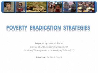 Poverty  Eradication  Strategies