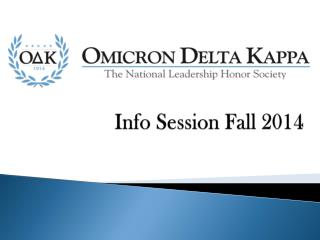 Info Session Fall 2014