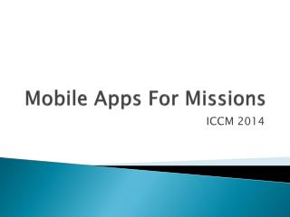 Mobile Apps For Missions