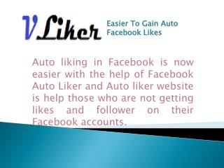 Easier To Gain Auto Facebook Likes
