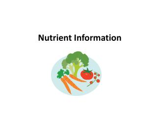 Nutrient Information