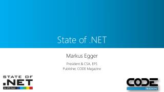 State of . NET