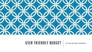 User Friendly Budget
