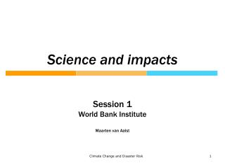 Science and impacts