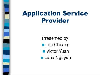 Application Service Provider