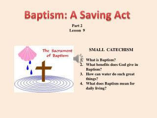 Baptism: A Saving Act
