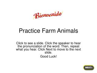 Practice Farm Animals