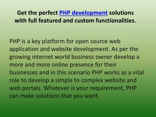 PHP Features And Functions - Benefit For Your Web Applicatio