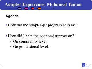 How did the adopt-a-jsr program help me? How did I help the adopt-a-jsr program?