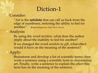 Diction-1